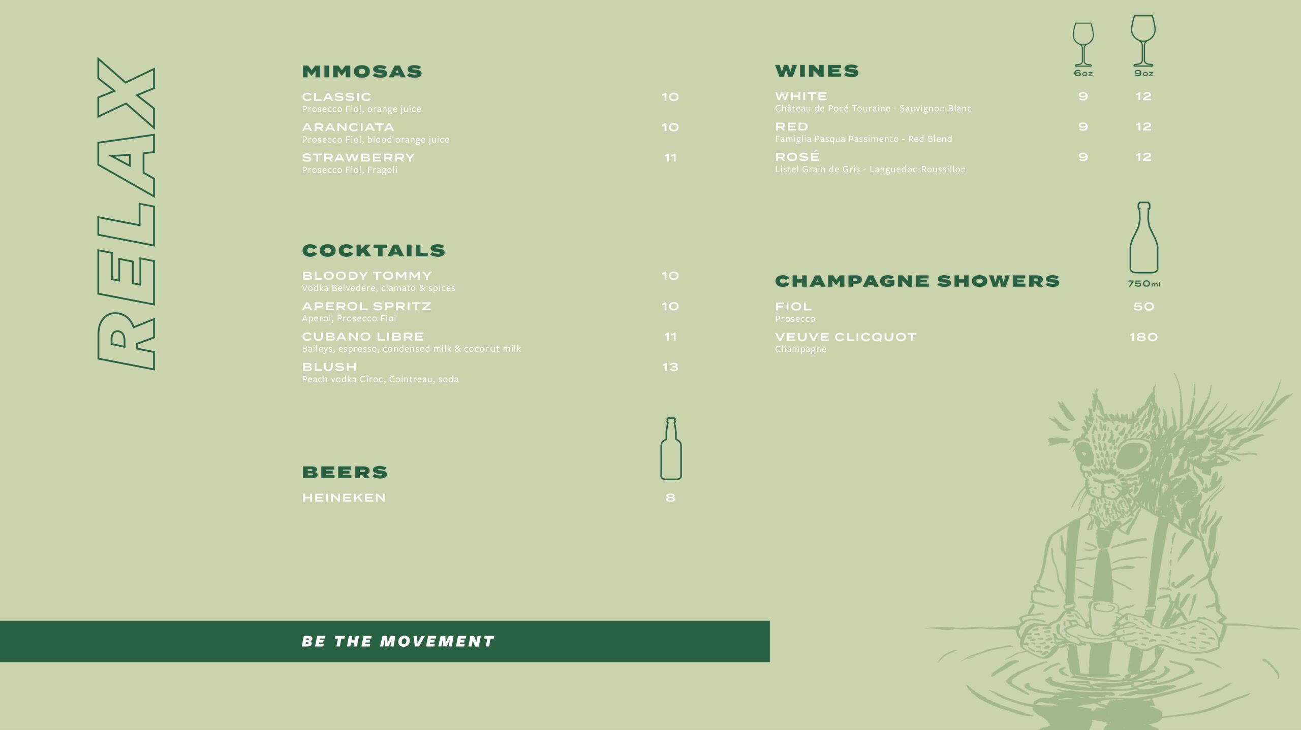 cocktails menu Notre-Dame